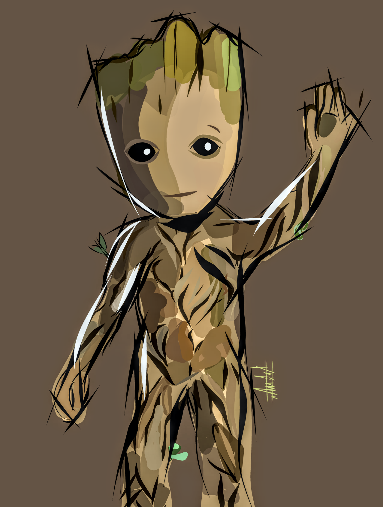 jpg library download Groot vector. A friend of mine