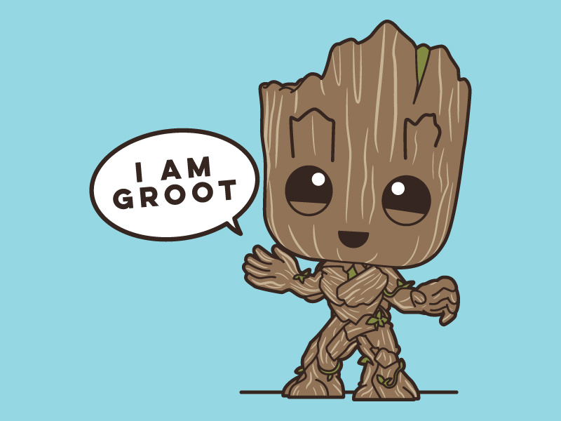 vector free download I Am Groot by Johnathon Burns on Dribbble