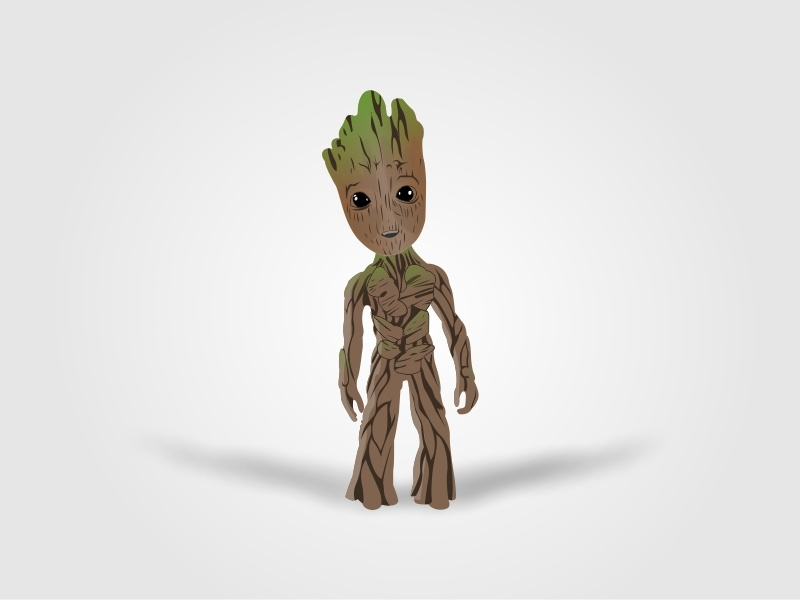 image free library Baby Groot Illustrations by Ramesh Thakur on Dribbble