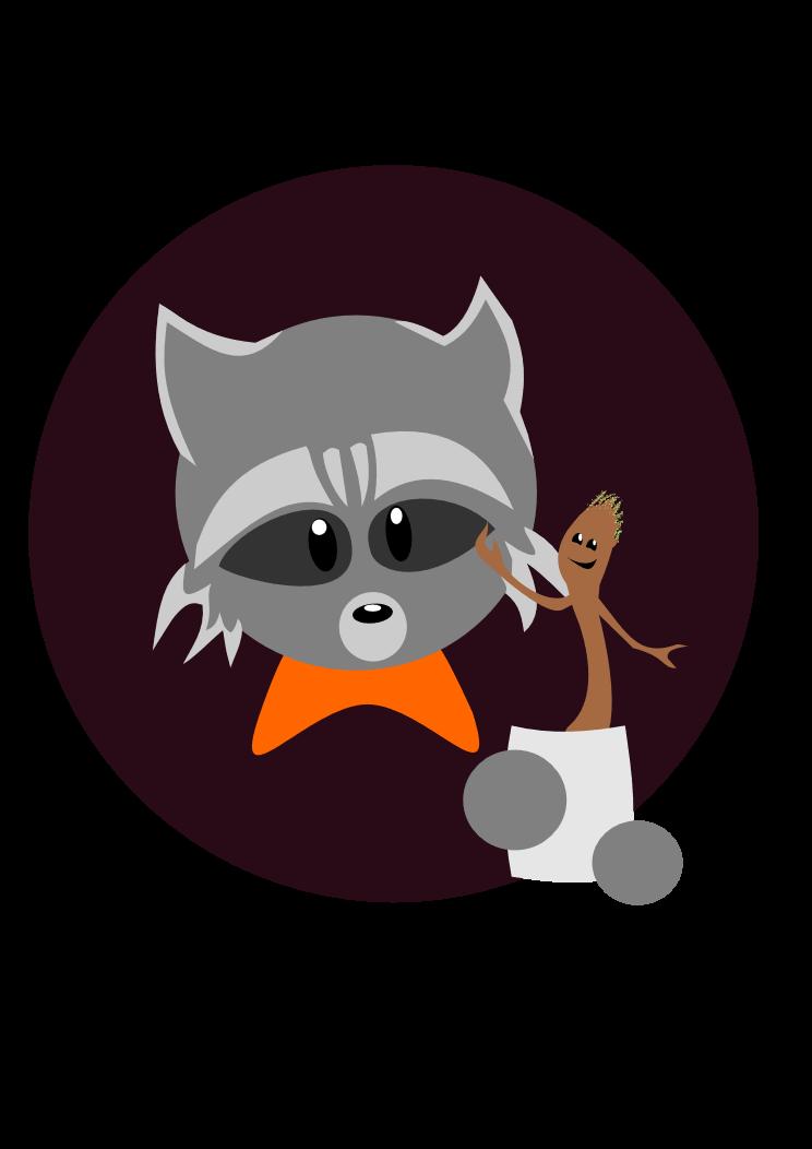 vector transparent library Groot and Rocket Raccoon by Wishiwasahobbit on DeviantArt