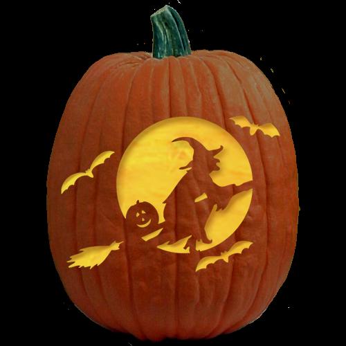 clip art black and white stock Witch Pumpkin Template Fresh Freesensenews
