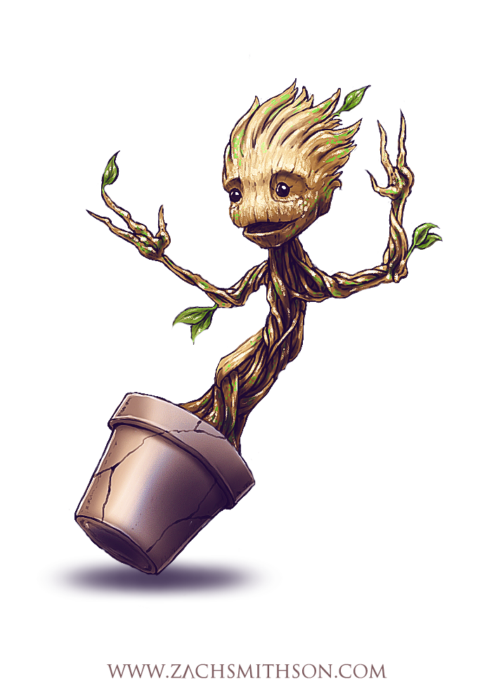 banner black and white library Baby Groot PNG Free Download