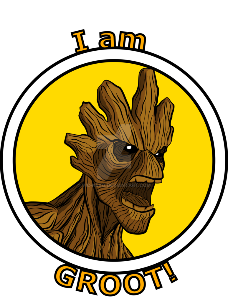 png black and white download Groot vector. T shirt by vic