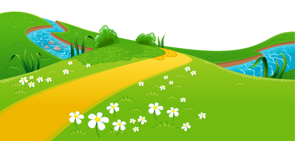 clip art free stock Meadow and river png. Ground clipart landscape