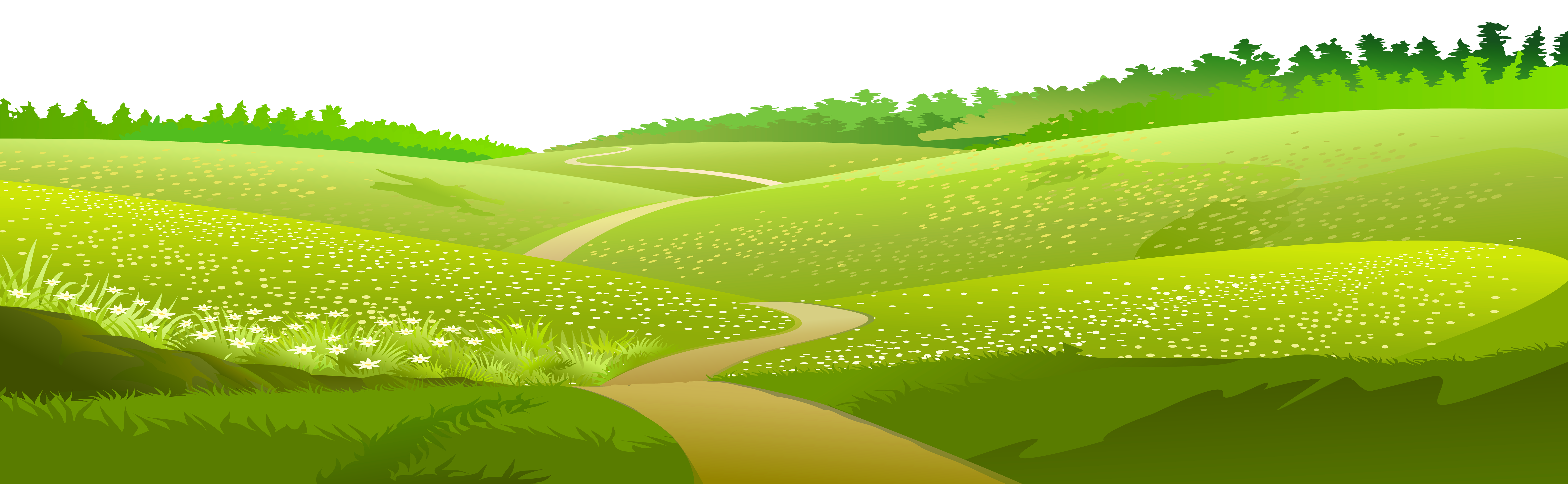 banner library Ground clipart landscape. Meadow transparent clip art