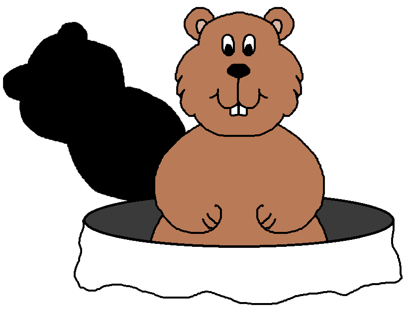 jpg royalty free Groundhog clipart. Graphics by ruth s