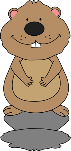 banner transparent Groundhog clipart. Sees his shadow calendar