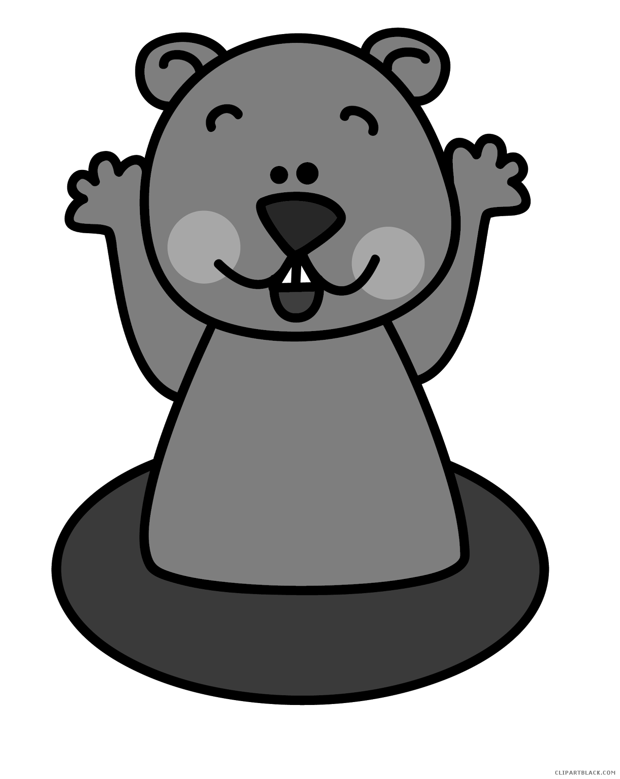 banner free download Groundhog clipart. Clipartblack com animal free.