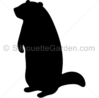 banner freeuse download Groundhog clipart. Silhouette clip art download