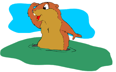 clipart royalty free stock Fairytales and fitness june. Groundhog clipart cartoon
