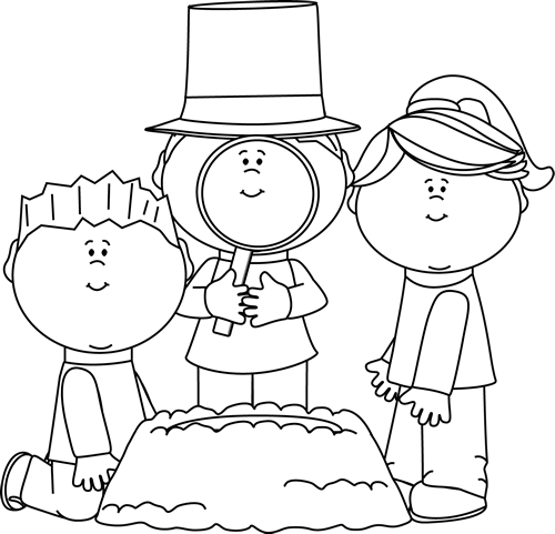 jpg library download Groundhog clipart kid. Black and white kids