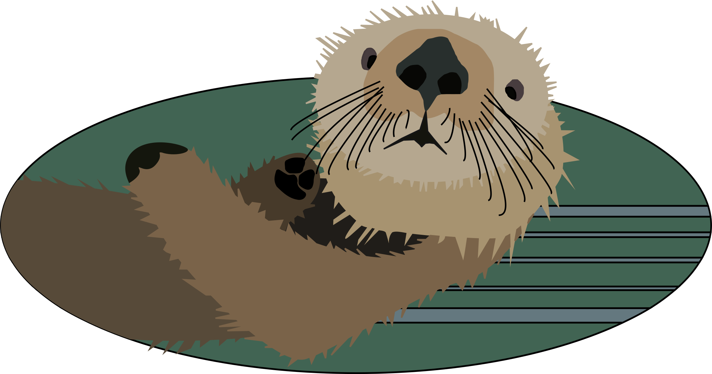 svg library download Sea icons png free. Groundhog clipart otter