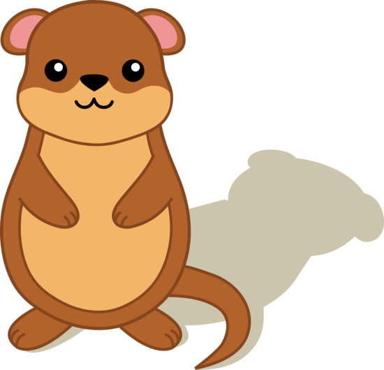 png black and white stock Groundhog clipart otter. Gourd faux free on