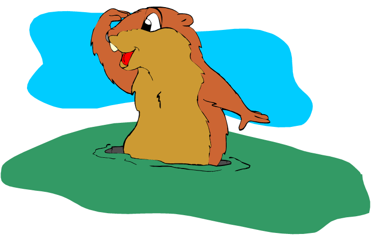 png free stock Free Groundhog Clipart