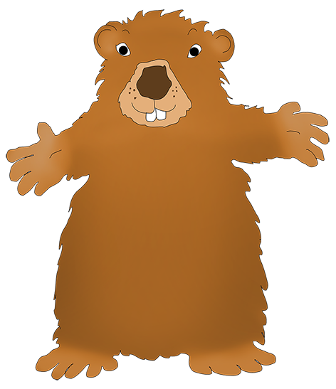 jpg freeuse library Day happy. Groundhog clipart printable