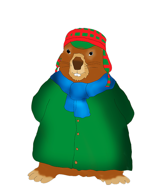 download Groundhog clipart printable. Day winterdressed clip art