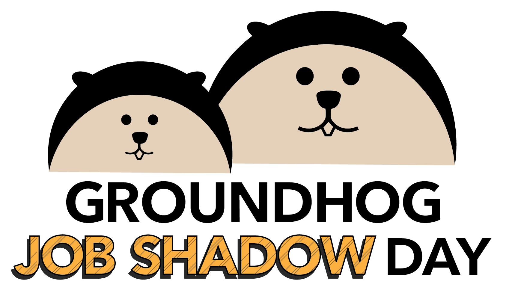 graphic royalty free download Groundhog clipart tomorrow. February is cte month