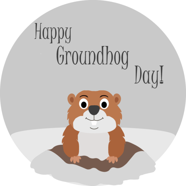 clip art library stock Punxsutawney phil day soothsayer. Groundhog clipart transparent