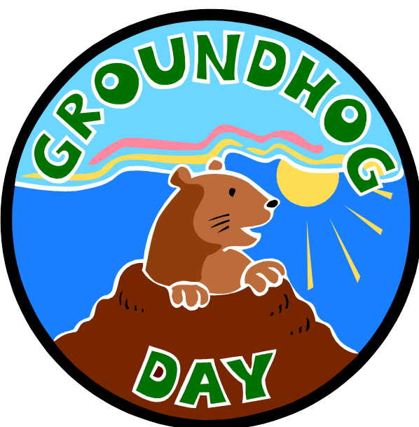 svg freeuse stock Groundhog clipart transparent. Happy day one book