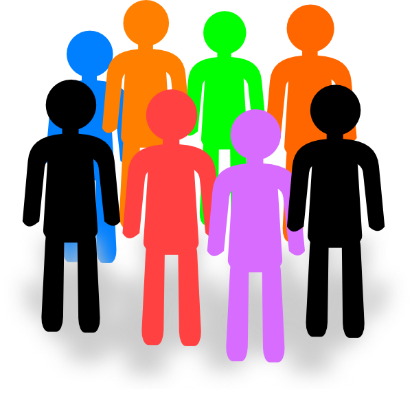 picture royalty free download Large of people . Group clipart.