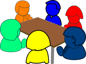 image free At table . Group clipart.