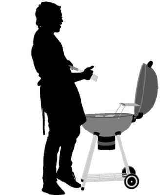 freeuse library Group clipart bbq. Of friends with the