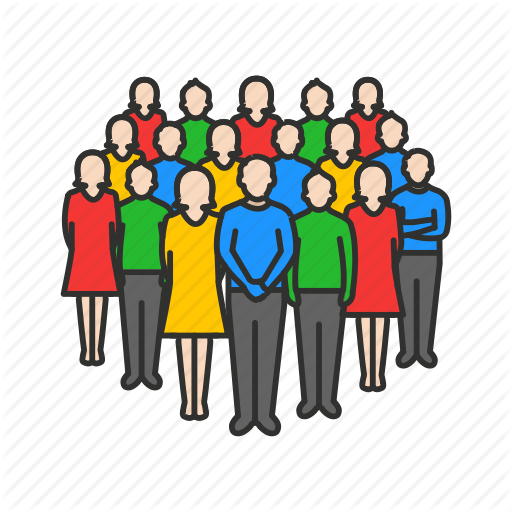 black and white download Group clipart bunch. Crowd person free on