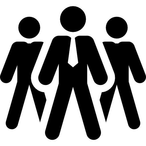svg royalty free stock Of businessmen free people. Group clipart leadership