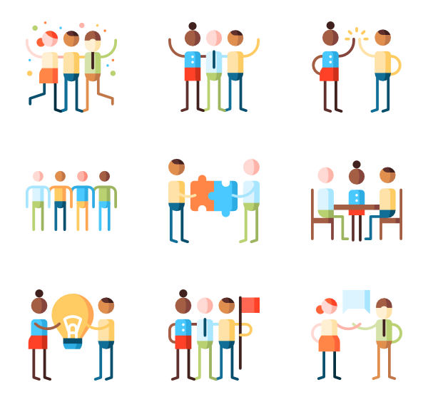 clipart royalty free Icons free vector teamwork. Group clipart leadership