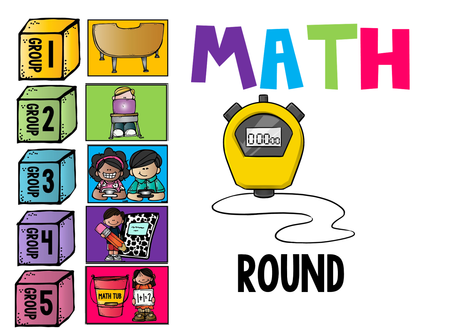 graphic library stock Guided math reflecting on. Group clipart teacher