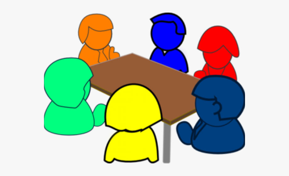 clip art transparent Group discussion clipart. Meeting social small .