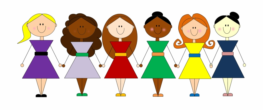 clipart download Clip art freeuse library. Group of girls clipart.