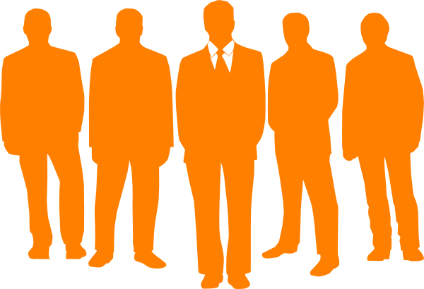 vector black and white library Men In Orange Clip Art at Clker
