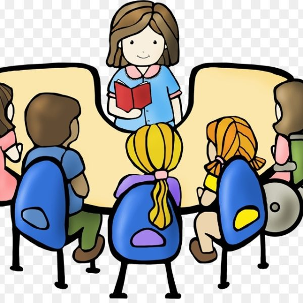 jpg transparent library Student reading book discussion. Group of students clipart