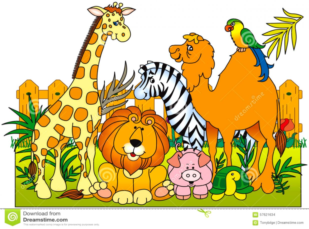 vector freeuse download Tatoo pictures ideas . Group of zoo animals clipart.