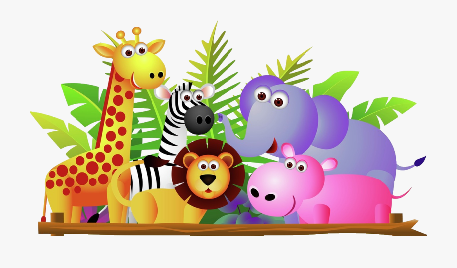 graphic royalty free download Group of zoo animals clipart. Giraffe lion zebra and.