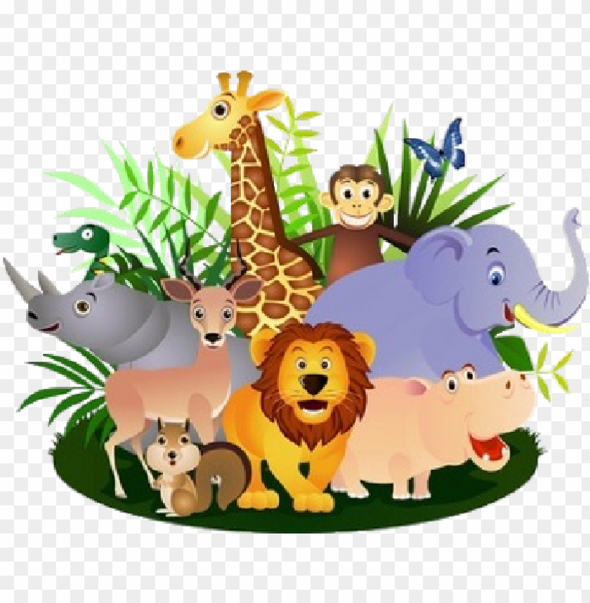 royalty free download Group of zoo animals clipart. Wild png