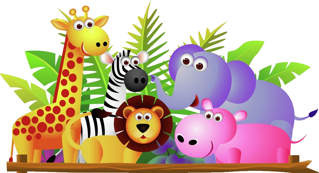 banner black and white Giraffe lion zebra and. Group of zoo animals clipart