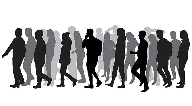clip art transparent download Group station . Clipart people walking.