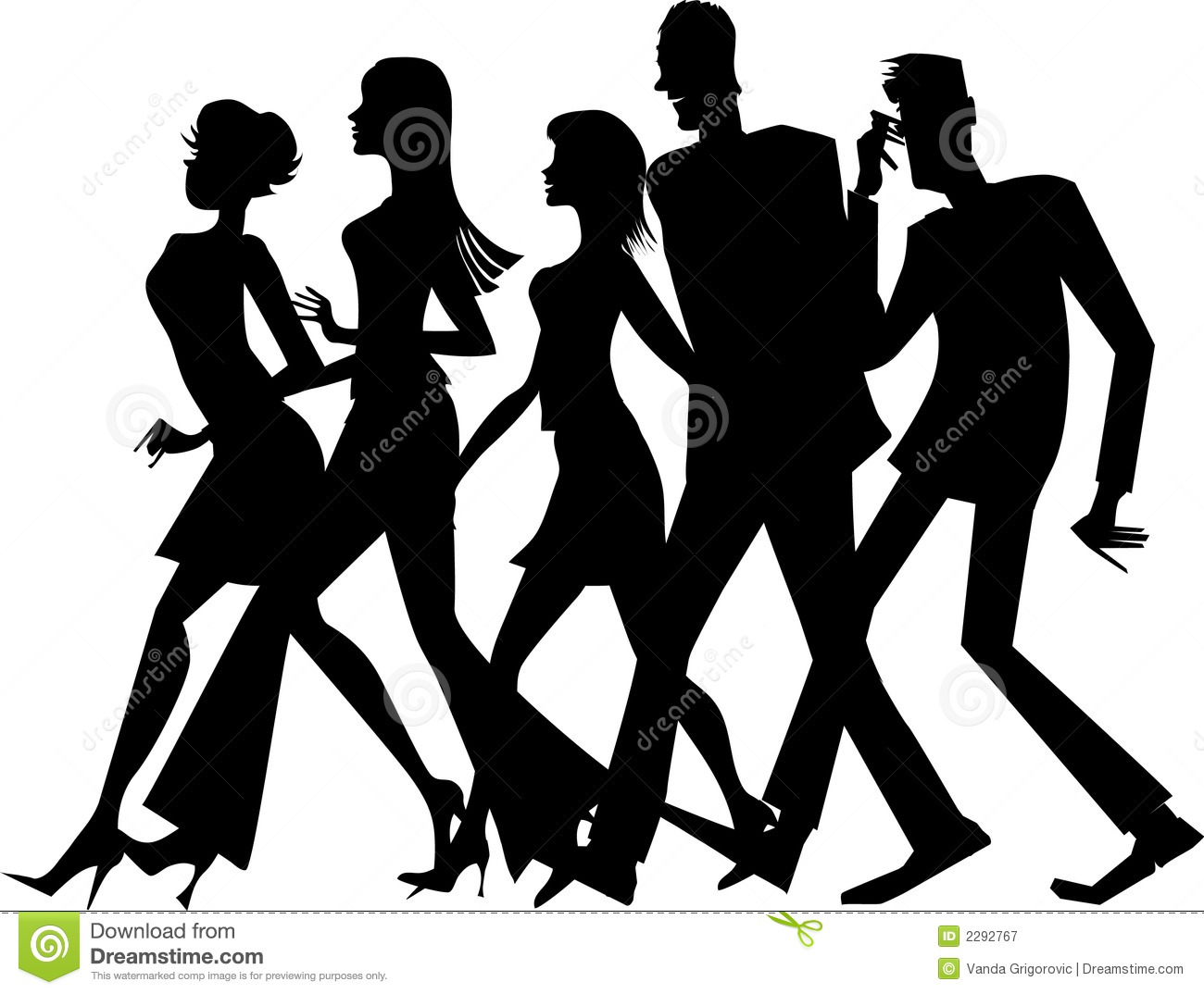 image free library Station . Group walking clipart.