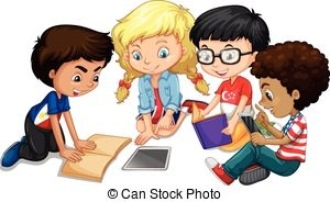 picture black and white download Free group work cliparts. Working in groups clipart.