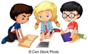 svg freeuse Free group work cliparts. Students working in groups clipart