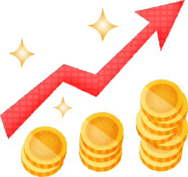 vector Virtual currency graph free. Growth clipart