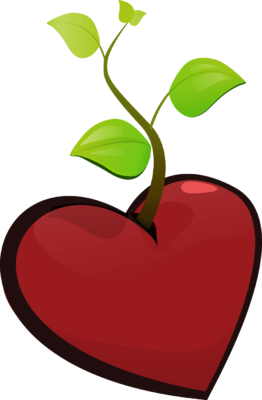 vector freeuse library Image a heart with. Growth clipart plant