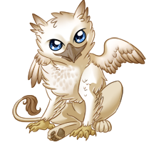 banner black and white download Baby gryphon
