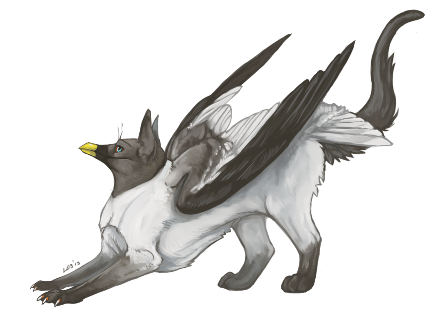 vector royalty free A Gryphon Called Eizha by Puppy