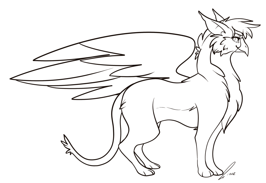 image black and white Gryphon Lines by jaclynonacloudlines on DeviantArt