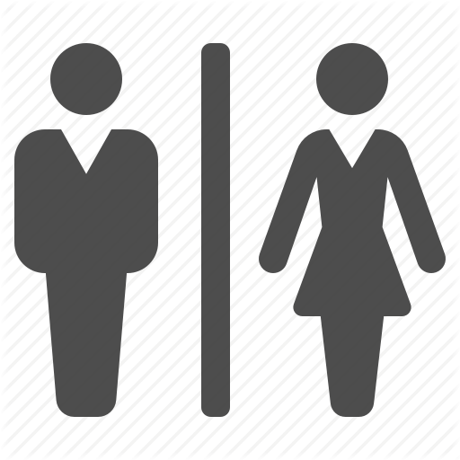 png black and white Guard clipart airport. Bathroom man and woman