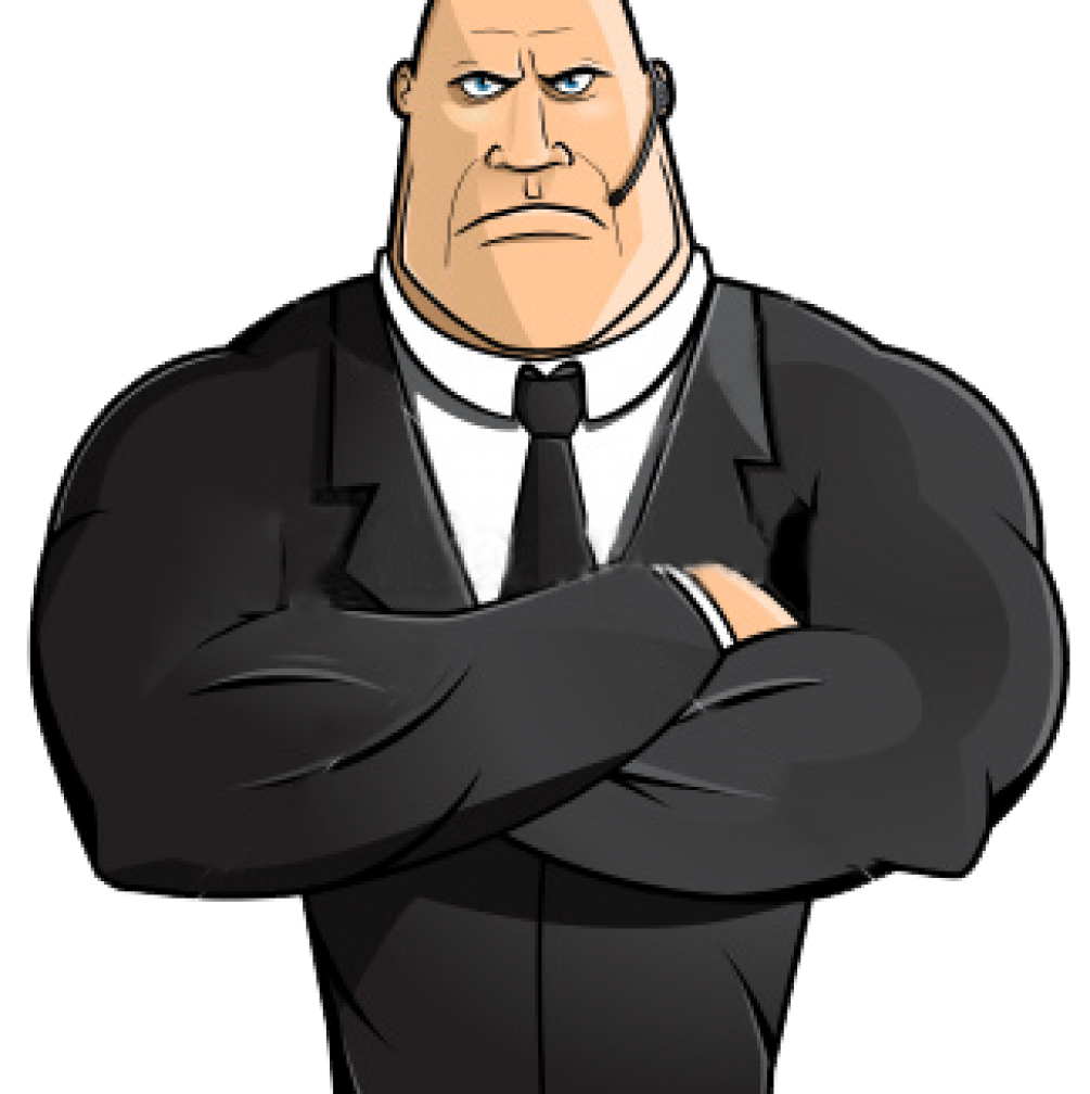 clip freeuse download The bouncer security clip. Guard clipart bodyguard