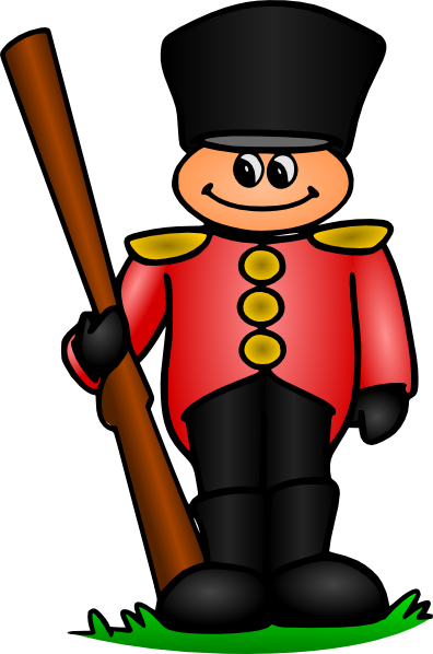 freeuse download Tin clip art at. Guard clipart english soldier